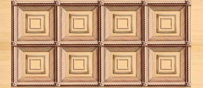 Пример эскиза кессонного потолка