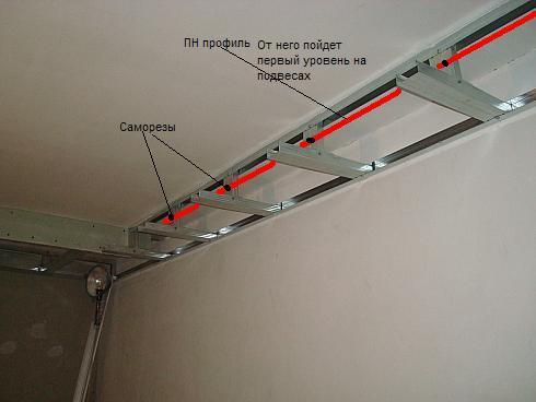 Многоуровневые потолки с подсветкой из гипсокартона своими руками