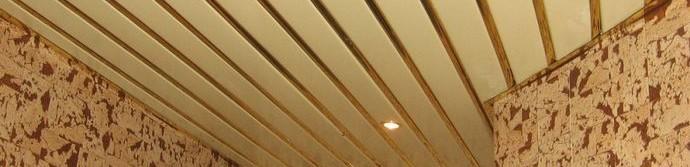 Реечный потолок из пластика