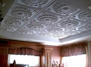 Плитка для потолка из пенополистирола