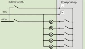 Схема подключения люстры с пультом
