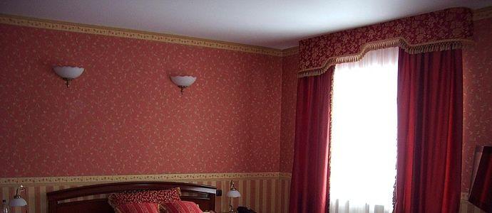 Бордюры для обоев в спальне