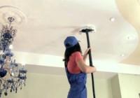 Как правильно мыть натяжные потолки