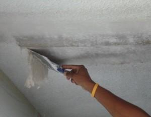 Подготовка поверхности потолка к побелке