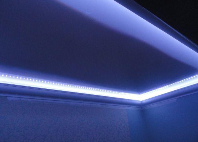 Подсветка плинтуса светодиодами