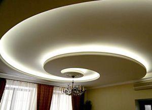 Закарнизная подсветка натяжного потолка