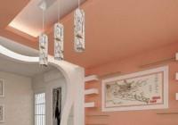 Высокий потолок из гипсокартона