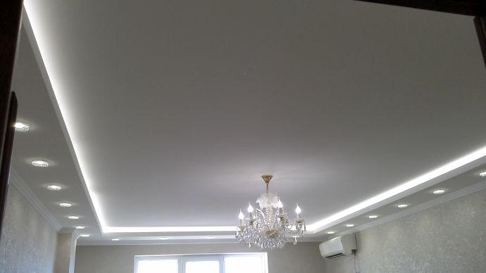 Белое полотно с подсветкой