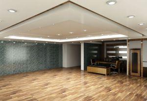 Современный натяжной потолок в квартире-студии