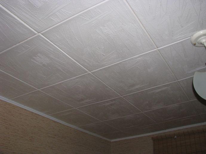 Потолок с плитами