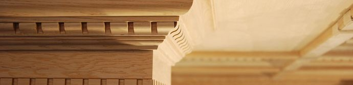 Багет потолочный из древесины