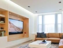 Дизайн потолка в интерьере зала