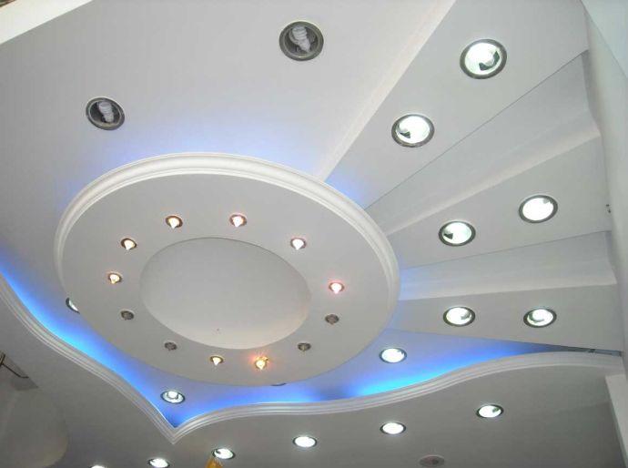 Многоуровневый потолок сложного типа